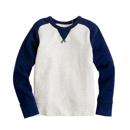 Boys' french terry baseball sweatshirt