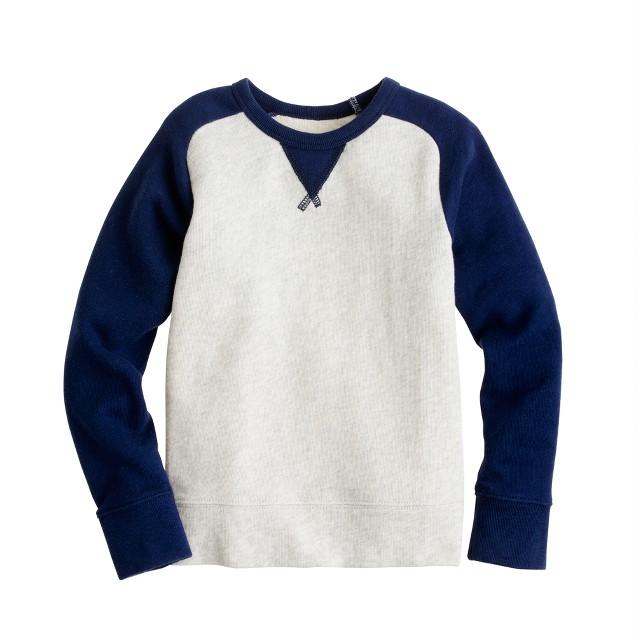 Boys' french terry baseball sweatshirt