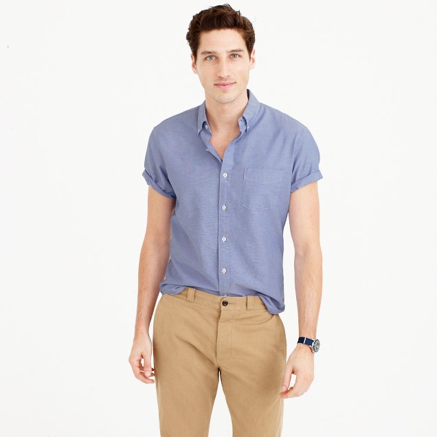 Tall short-sleeve oxford shirt