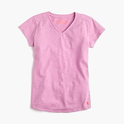 Girls' supersoft V-neck T-shirt