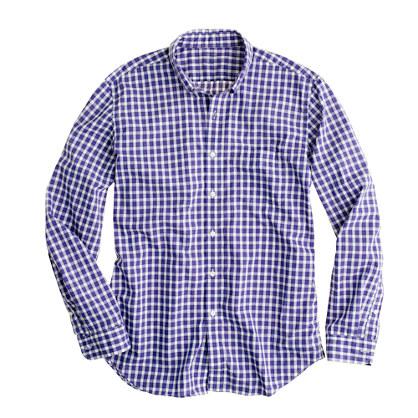 Secret Wash lightweight shirt in Camden check