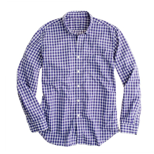 Secret Wash lightweight shirt in Camden check
