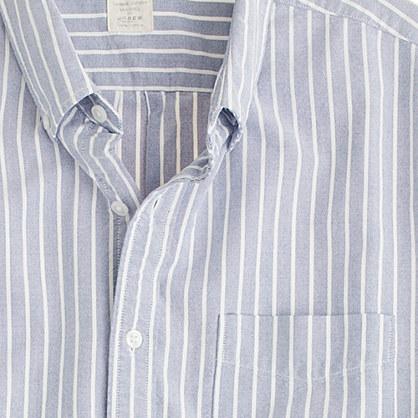 Sun-faded short-sleeve oxford shirt in Felton stripe
