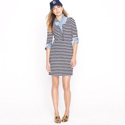 Zip-front T-shirt dress