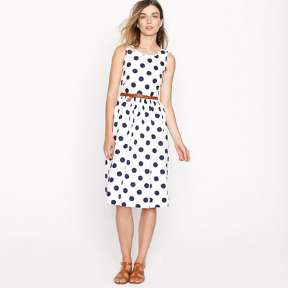 Petite big-shot dot dress