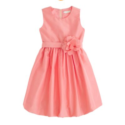 Girls' silk taffeta Gillian dress