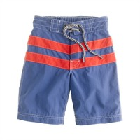 Boys' board short in sloop stripe