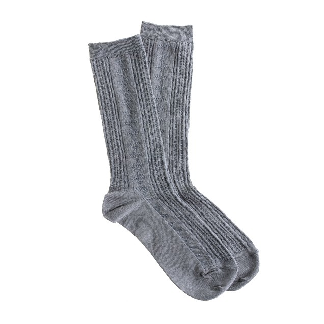 Cable trouser socks