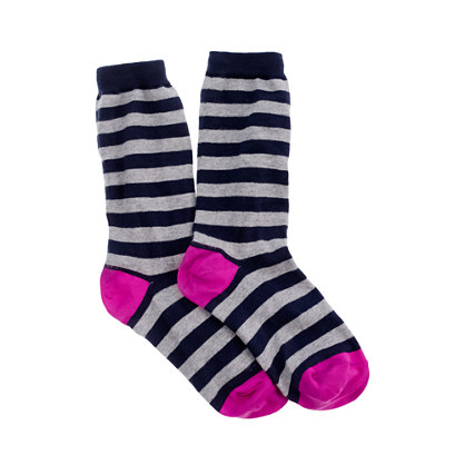 Stripe trouser socks