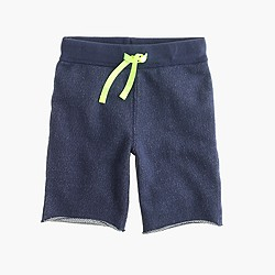 Boys' Cooper pull-on sweatshort in rugged terry