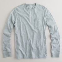 Broken-in long-sleeve pocket T-shirt
