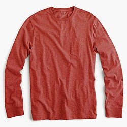 Tall broken-in long-sleeve pocket T-shirt