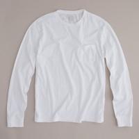 Tall broken-in long-sleeve pocket T-shirt