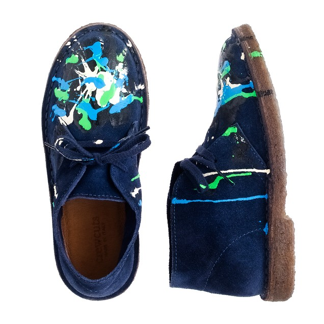 Kids' suede paint-splatter MacAlister boots