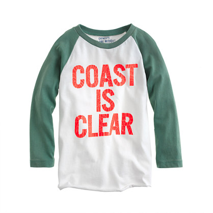 Boys' coast is clear three-quarter sleeve baseball tee