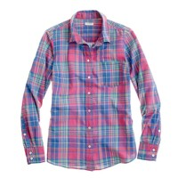 Boy shirt in Folly Beach plaid