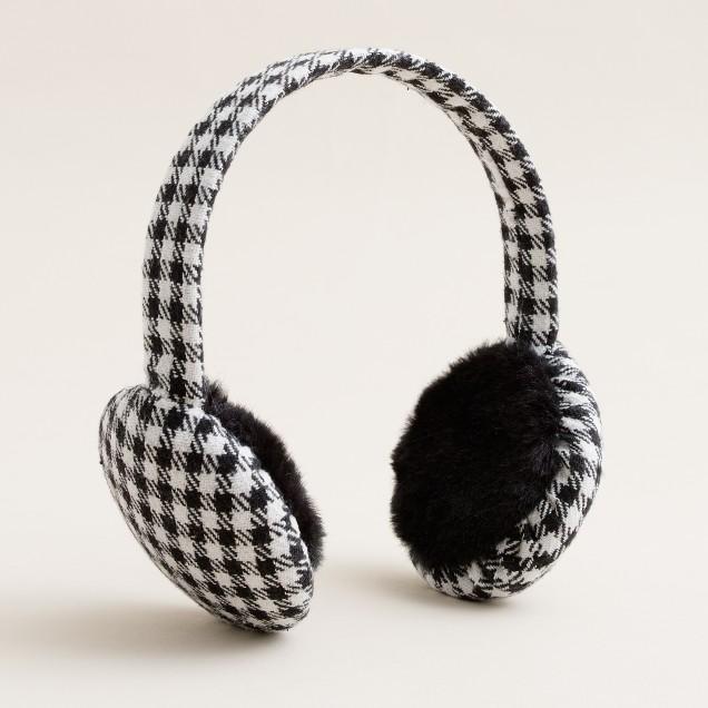 Houndstooth earmuffs