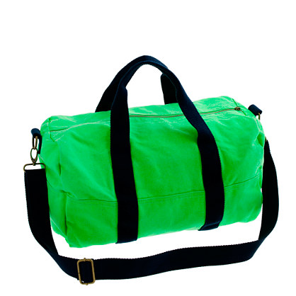 Neon canvas overnight bag