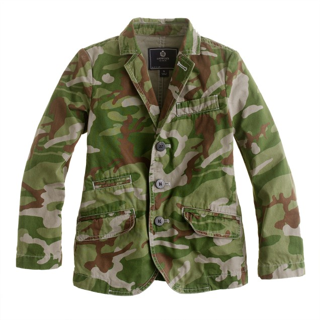 Boys' sportcoat in camouflage