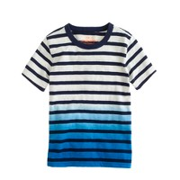 Boys' ringer tee in dip-dye stripe