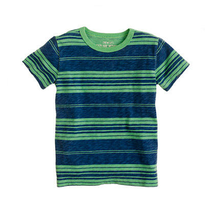 Boys' tee in sea glass stripe