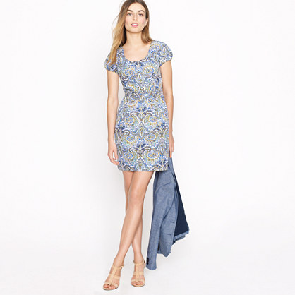 Dolores dress in peacock paisley