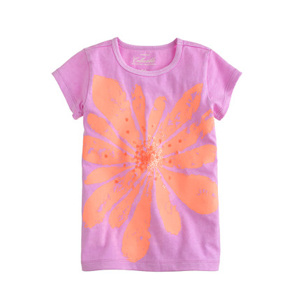 Girls' orange blossom tee