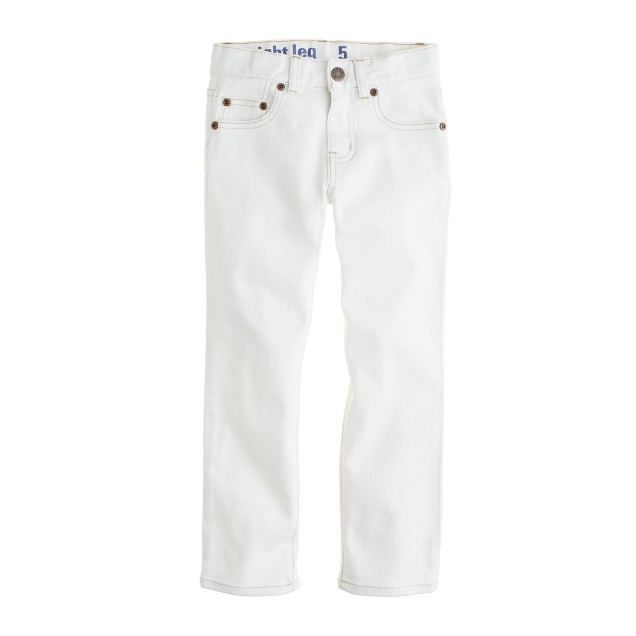Boys' straight jean in white
