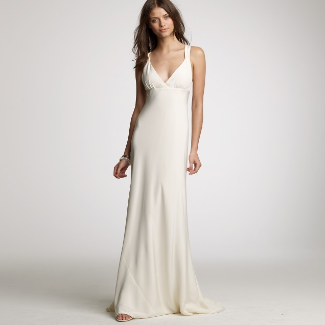 Avery gown in silk tricotine j crew for J crew beach wedding dress