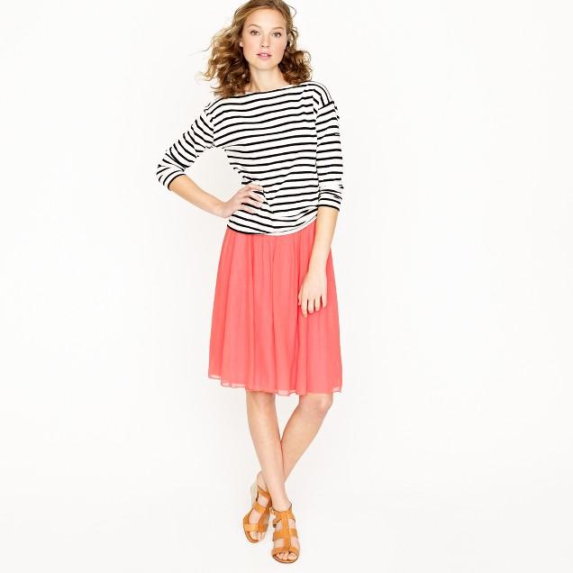 Crinkle chiffon skirt