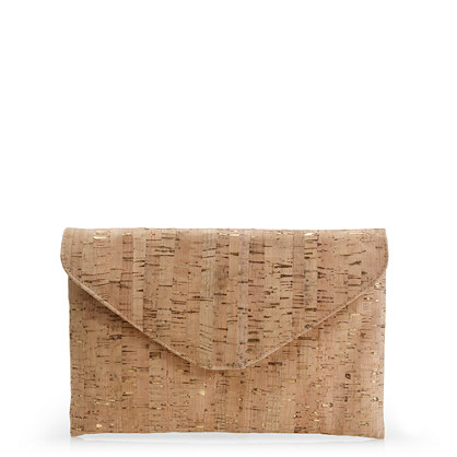Invitation clutch in cork