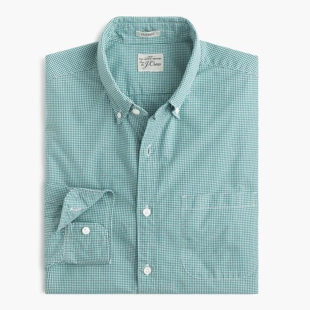 Secret Wash shirt in Mason gingham