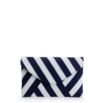 Invitation clutch in ribbon stripe