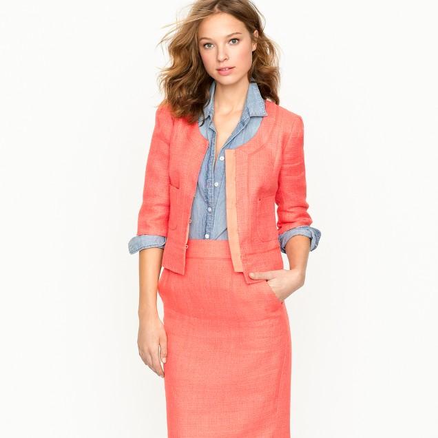 Bureau jacket in linen-canvas