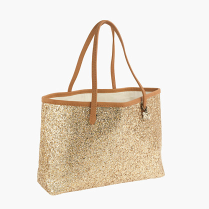 Girls' glitter tote