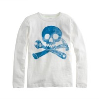 Boys' long-sleeve skull tee