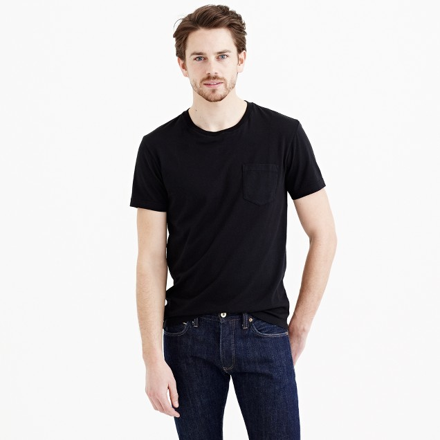 Broken-in pocket T-shirt