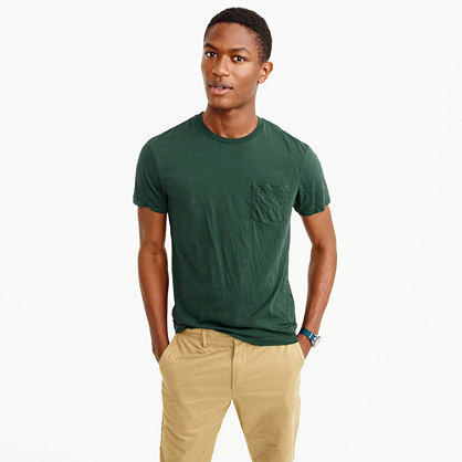 Broken-in pocket T-shirt