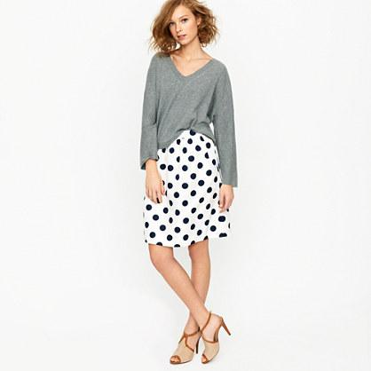 Petite big-shot dot circle skirt