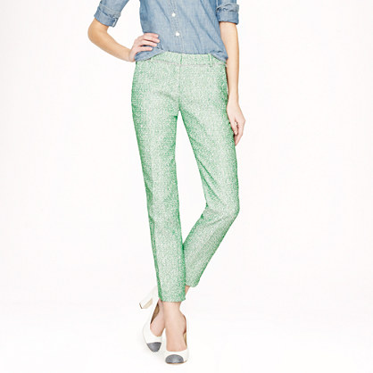 Collection café capri in green glimmer tweed
