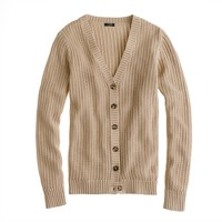 Cotton open-stitch cardigan