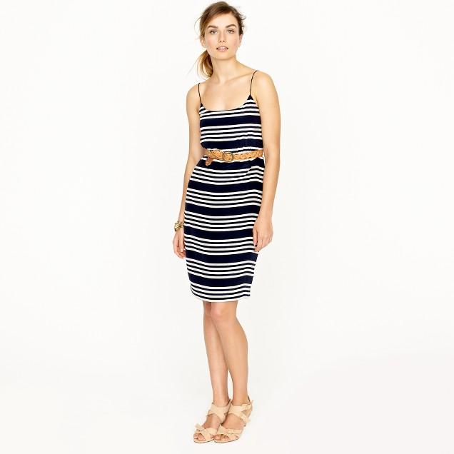 Blouson dress in stripe