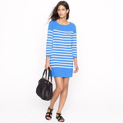 Maritime dress in skinny stripe