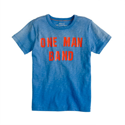 Boys' one man band tee