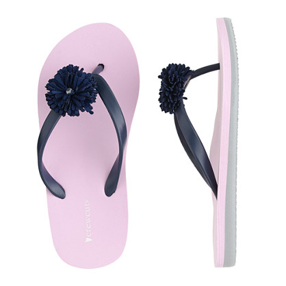 Girls' junior colorblock floral flip-flops