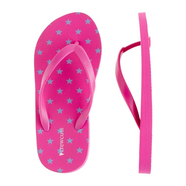 Girls' star-print flip-flops