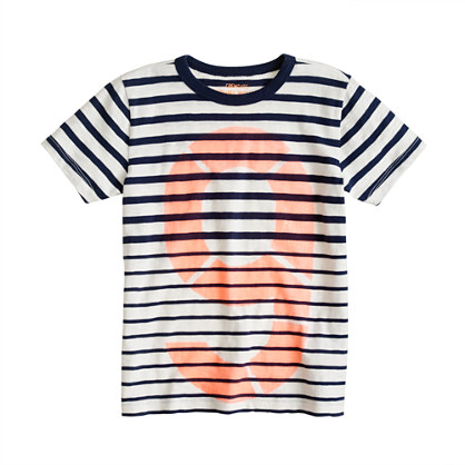 Boys' nautical stripe #9 tee