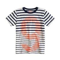 Boys' nautical stripe #9 tee