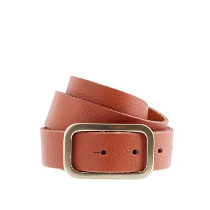 Italian leather stud belt