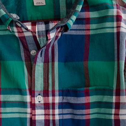 Indian cotton shirt in Broome plaid